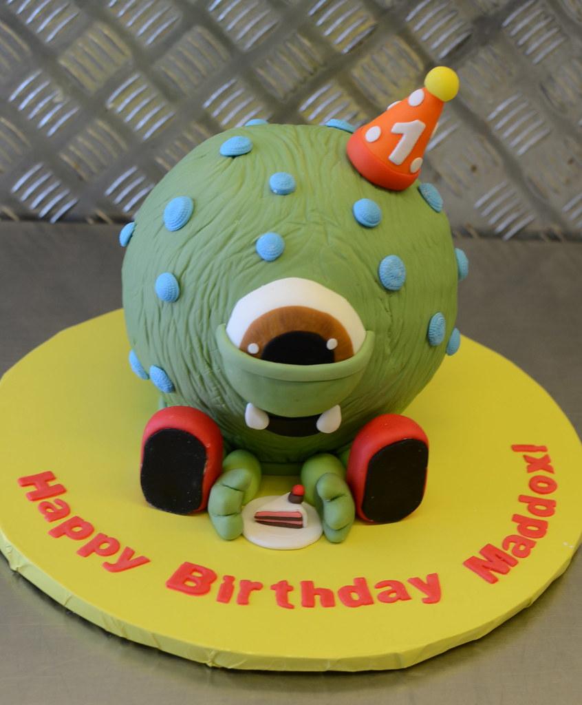 Super Monster Birthday Cake Chocolate Mud Cake Monster Celebrati Flickr Funny Birthday Cards Online Inifofree Goldxyz