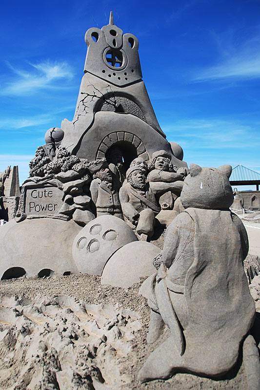 Sand Sculpting Competition & Exhibition, Parksville, Vancouver Island, British Columbia