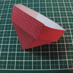 วิธีการทำโมเดลกระดาษเป็นสตอเบอรี่สีแดง 013