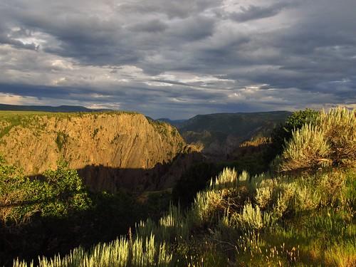 sunset landscape nationalpark scenery colorado nps roadtrip nationalparkservice blackcanyonofthegunnison tomichipoint