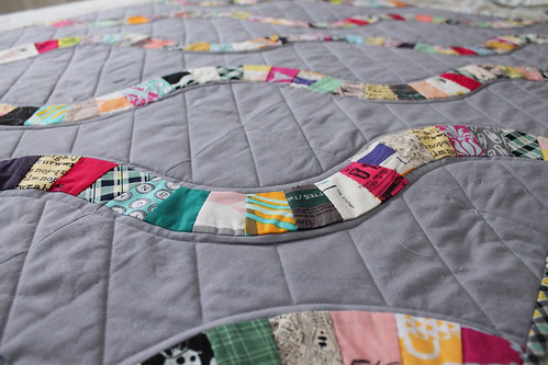 Snake trail baby quilt is finito!