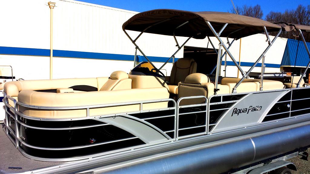 2014 Aqua Patio 240 Cb Tritoon Pontoon Boat For Sale At So