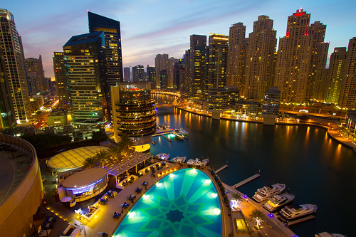 sunset night marina canon hotel dubai view uae january 7d 2015