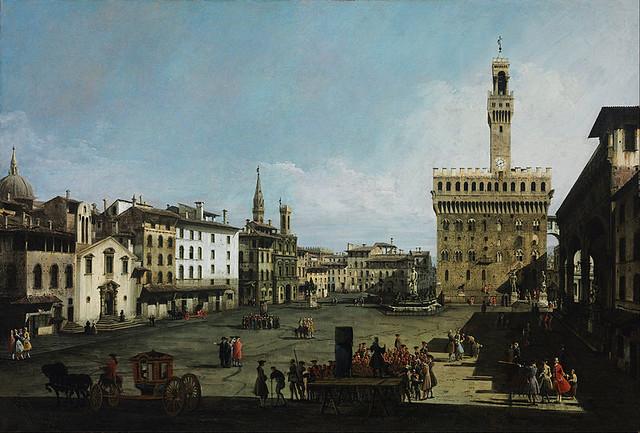 Bernardo Bellotto, genannt Canaletto, Piazza della Signoria, Florenz