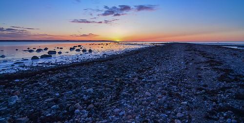 winter sunset sweden scania viken