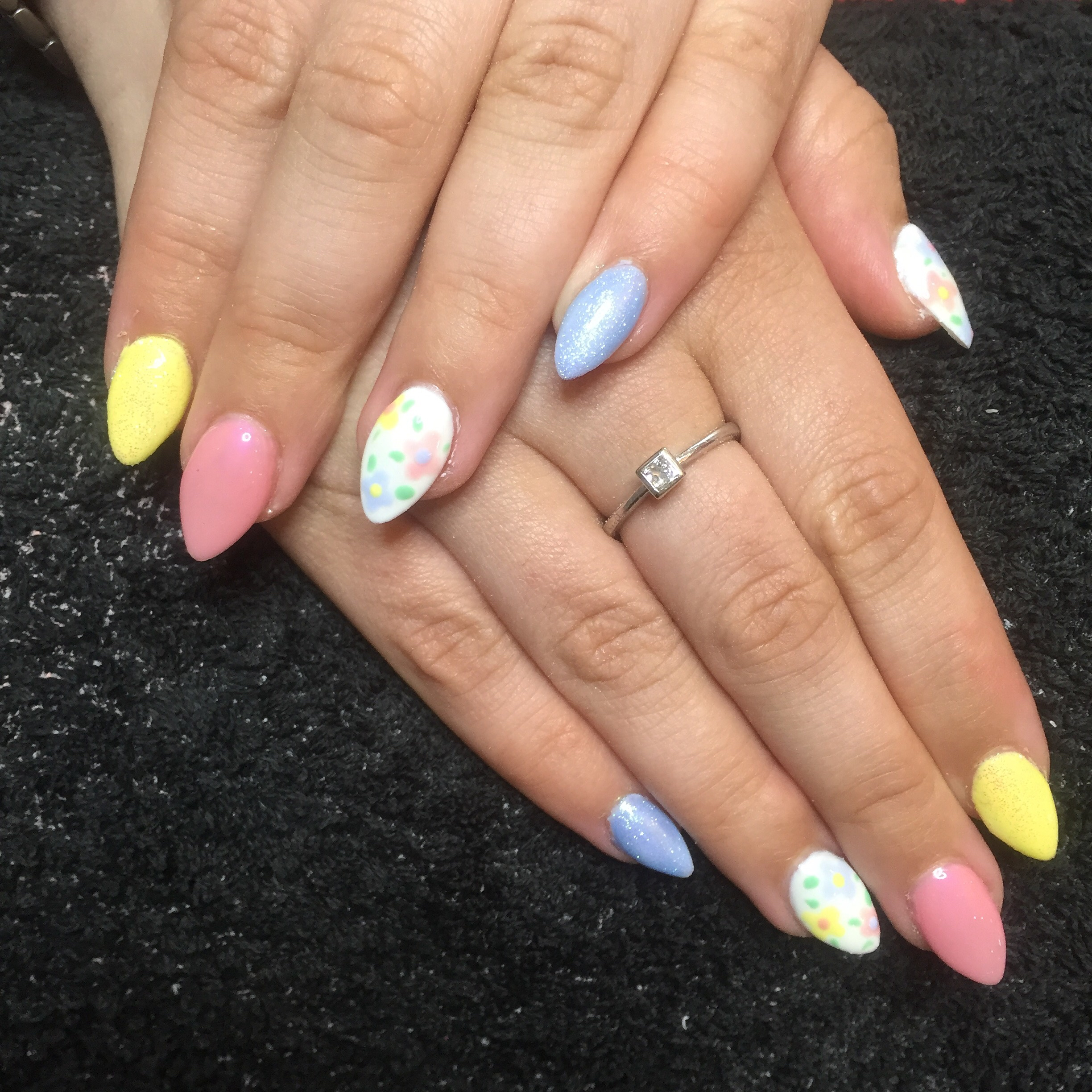 Pastel Almond Nails | Trendy Almond Nail Designs You Should Try | acrylic nails almond shaped