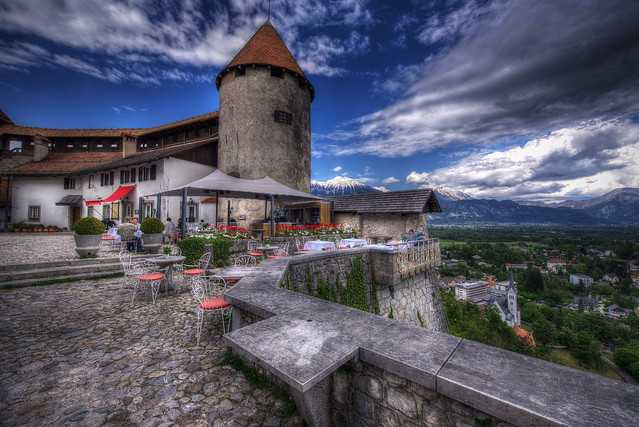 Coffee stop in the castle of Bled - Slovenija