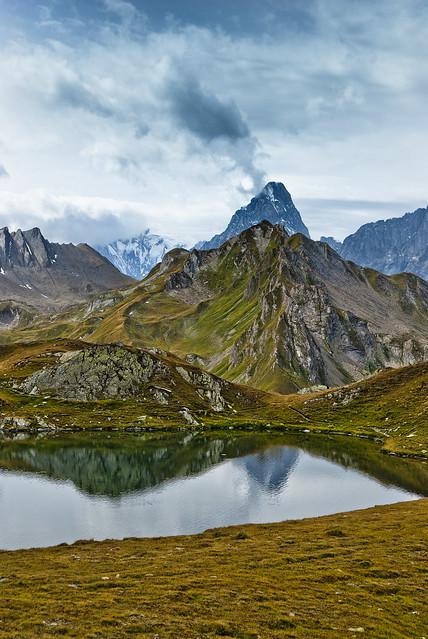 Lac de Fenêtre the Grandes Jorasses and the Mont Blanc. no. 0569.