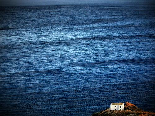 blue sea house home water island big waves view little greece minimalism infinite endless kythira kythera κύθηρα blinkagain
