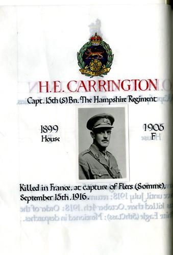 Carrington, Harold Edward (1886-1916) | by sherborneschoolarchives