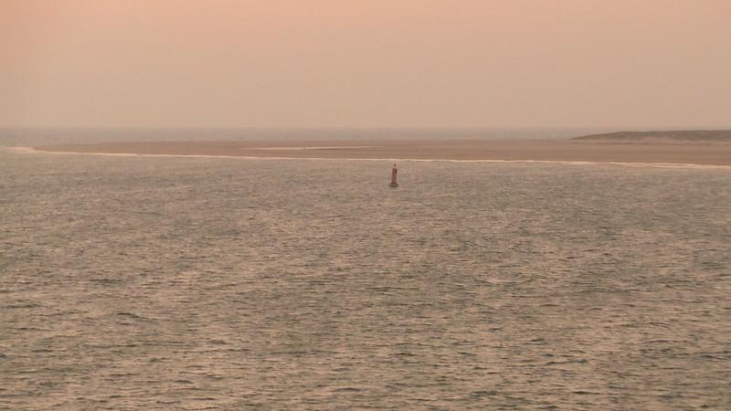 From the bridge, MS NAUTICA cruising the Gironde Estuary on way to Bilbao - Bordeaux/Le Verdon / l'Atlantique - 30 aout 2013