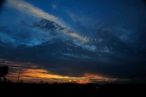 ledbetter sky sunset texas