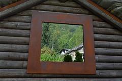 window - Mogno, Valle Maggia