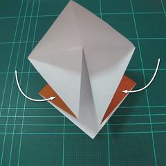 การพับกระดาษเป็นที่คั่นหนังสือหมีแว่น (Spectacled Bear Origami)  โดย Diego Quevedo 004