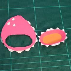 วิธีทำโมเดลกระดาษตุ้กตาคุกกี้รัน คุกกี้รสสตอเบอรี่ (LINE Cookie Run Strawberry Cookie Papercraft Model) 003