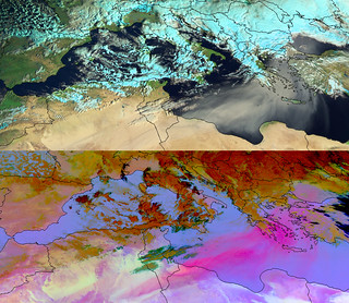Dust storm from the Sahara moving over the eastern Mediterranean Sea | by EUMETSAT