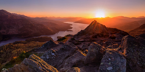 Trossachs Sundown | by J McSporran