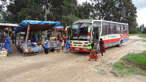 africa bus tanzania roadsidestand