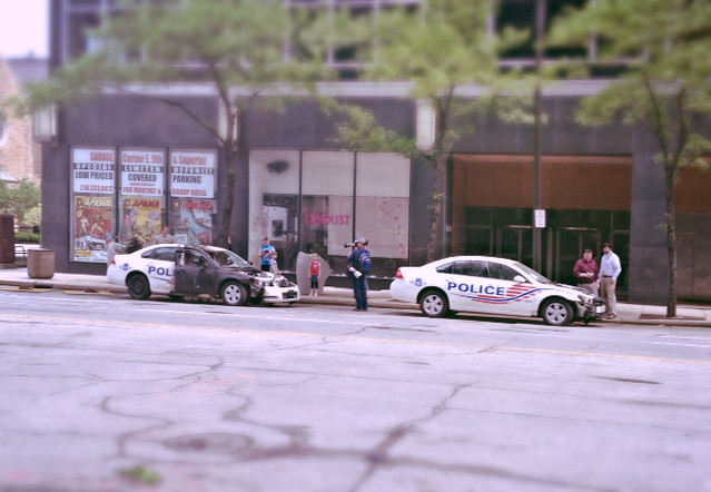 DC cop cars stand no chance in Cleveland