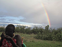 A rainbow in Loibersoit, Tanzania, after we spent long hours beading, gossiping, sharing stories and laughing. The laughter is the most unforgettable feeling about this home-stay.