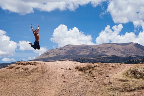 Heather, Jumping -- Sacsay Huaman, Peru | by kzamani