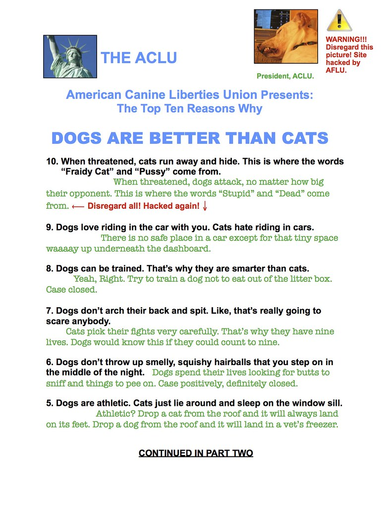 Top Ten Part One -jpeg | Cats Hack Dog's Website  | Flickr