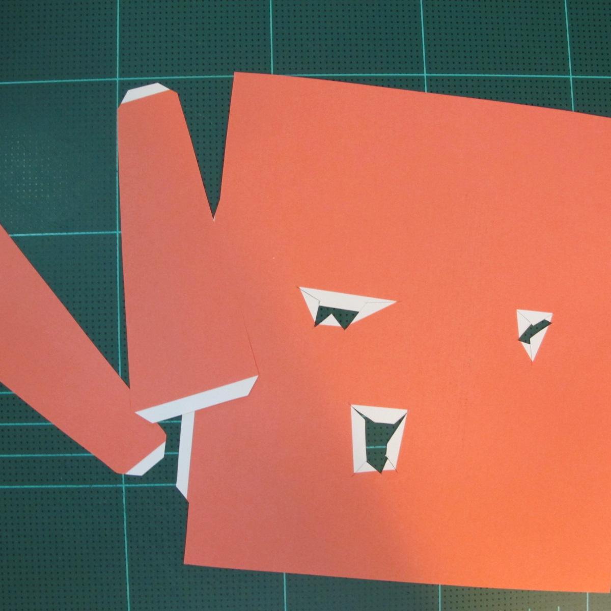 วิธีทำโมเดลกระดาษตุ้กตาคุกกี้รัน คุกกี้รสฮีโร่ (LINE Cookie Run Hero Cookie Papercraft Model) 027