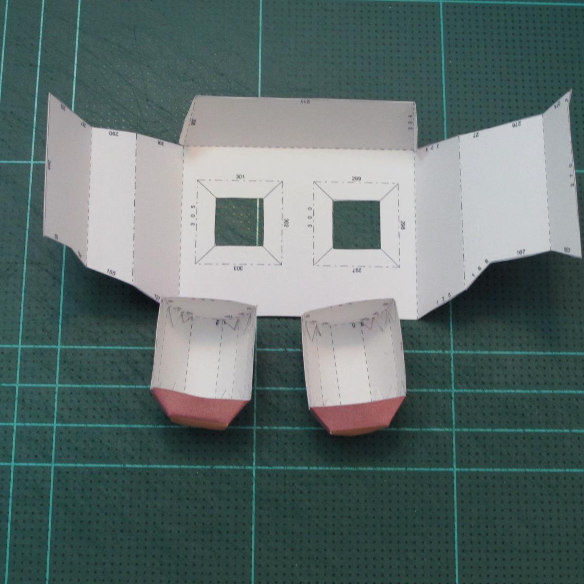 วิธีทำโมเดลกระดาษตุ้กตาคุกกี้รัน คุกกี้รสสตอเบอรี่ (LINE Cookie Run Strawberry Cookie Papercraft Model) 024