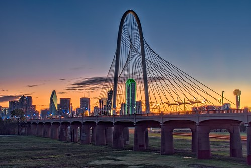 bridge detail sunrise landscapes dallas skies texas tx cityscapes bridges clarity olympus omd topaz adjust em10 denoise