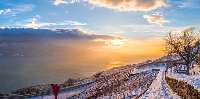 Sunset in Chardonne, Switzerland