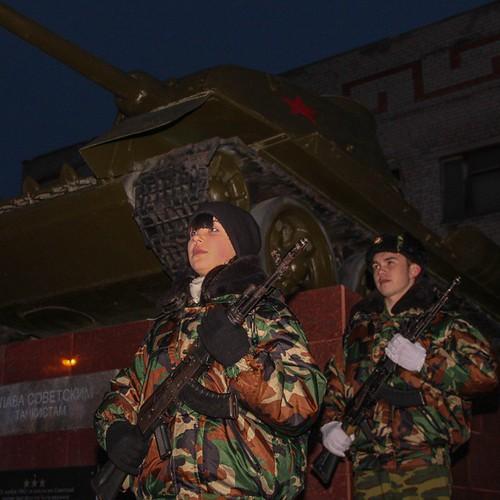 Калач-на-Дону. 2 февраля 2015 г. День празднования 72-ой годовщины разгрома немецко-фашистских войск в Сталинградской битве Акция