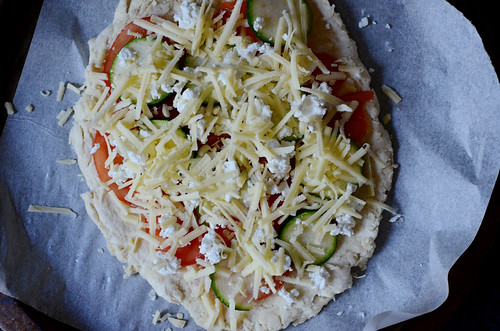 Scone pizza, pre-baking | by *cece*