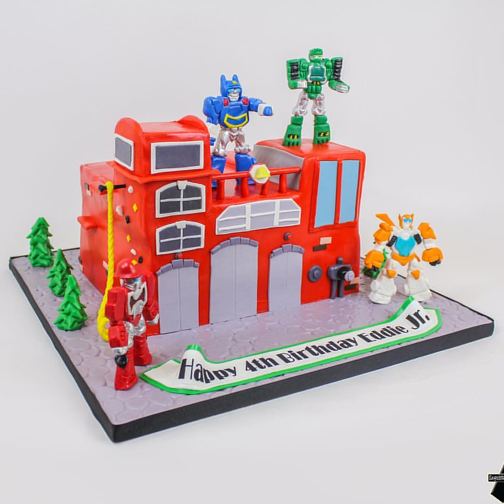 Fabulous Transformers Rescue Bots Birthday Cake Asexquisitecakes Flickr Funny Birthday Cards Online Alyptdamsfinfo
