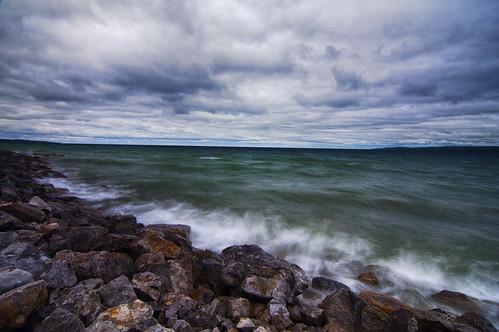 longexposure lake nature water clouds nikon waves michigan upper peninsula d90