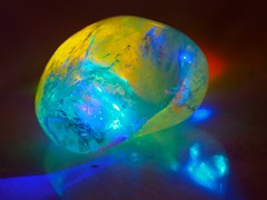 Crystal in rainbow light