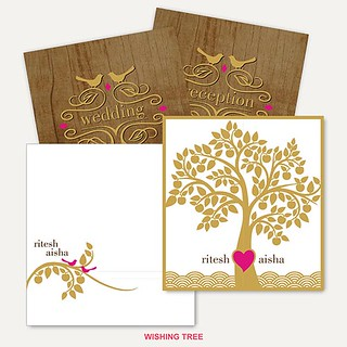 Wedding Invitations Bespoke Cards BC-Wishing Tree | by nparekhcards
