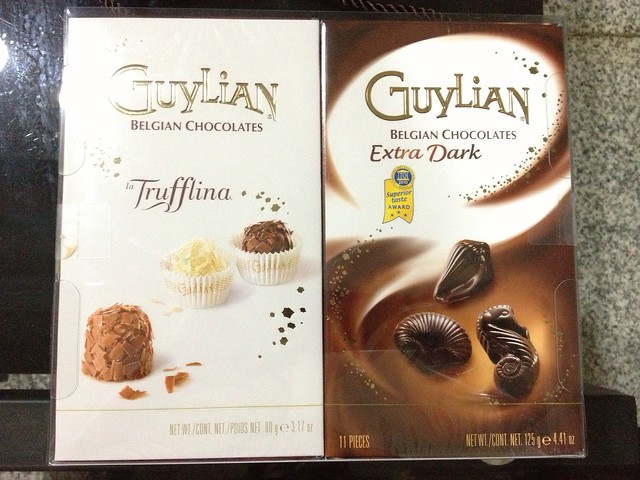 GuyLian Belgian Chocolates. Trufflina and Extra Dark that garnered the Superior taste award in 2010