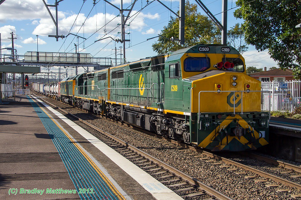 C509-C506-RL307 with #4174 freight to Botany at Adamstown (24/6/2013) by Bradley Matthews