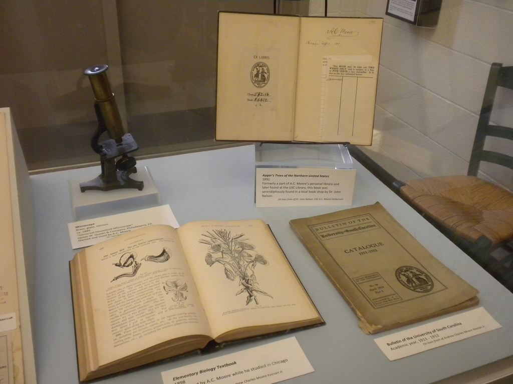 Microscope And Books Mckissick Museum And The A C Moore Flickr