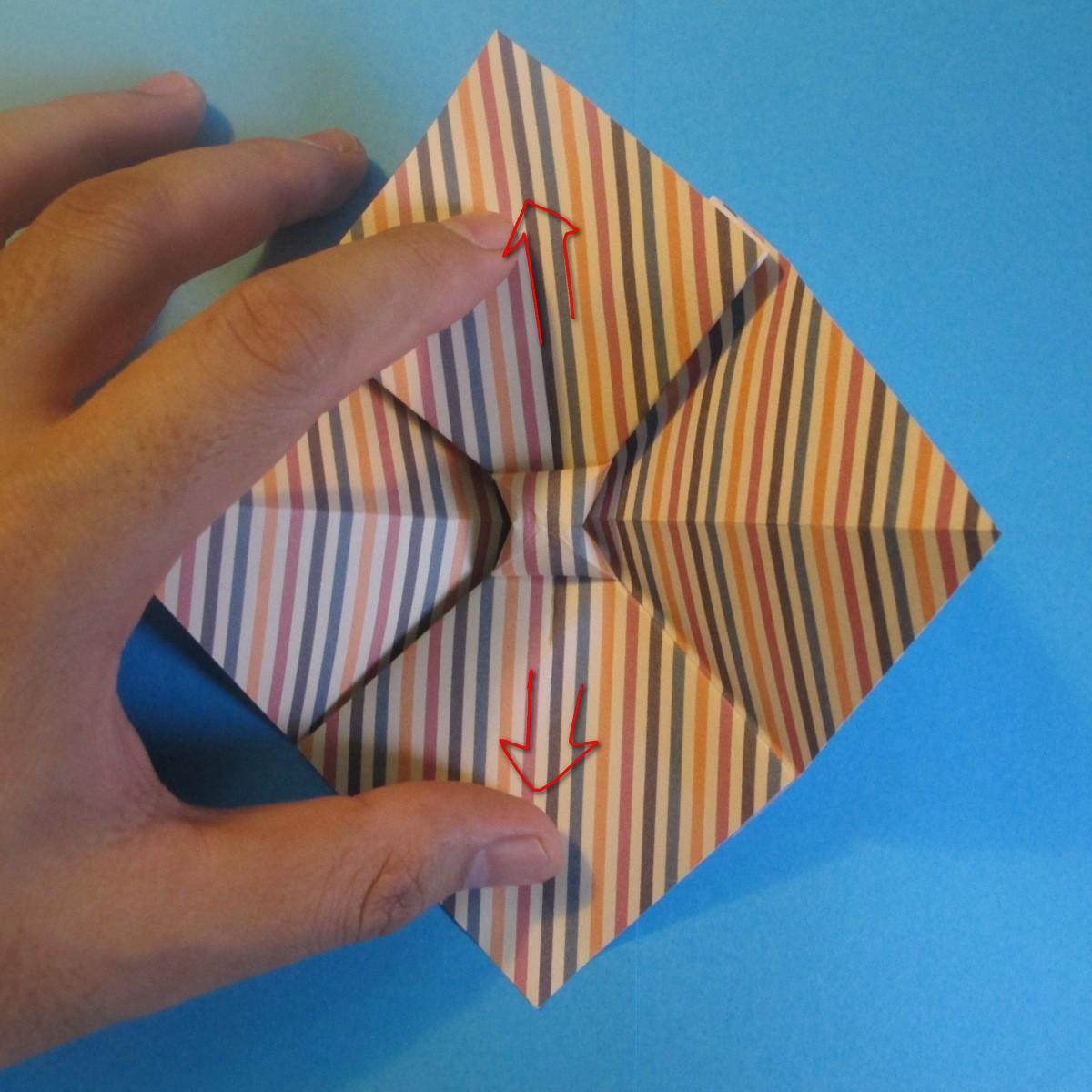 วิธีการพับกระดาษเป็นโบว์หูกระต่าย 014