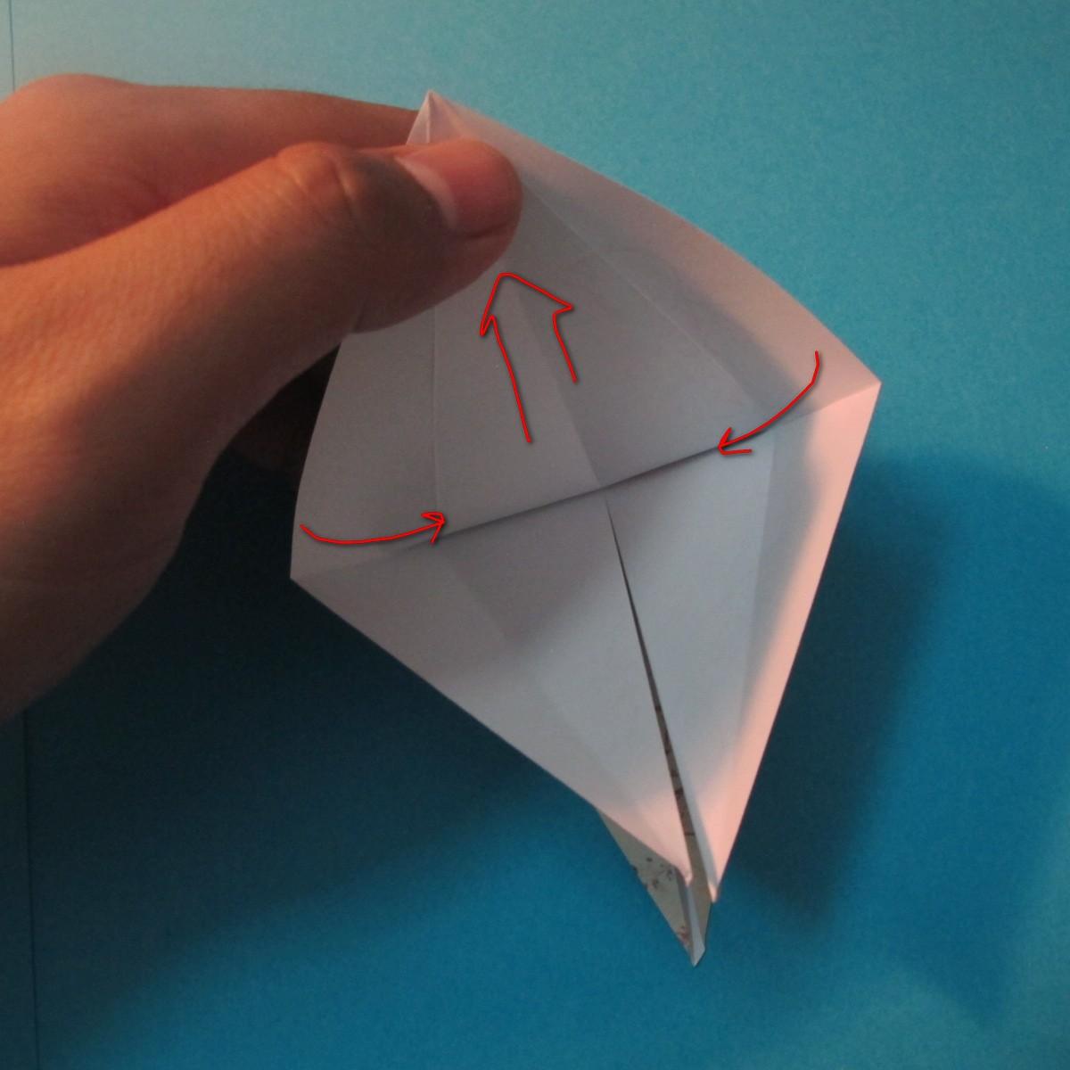 วิธีการพับกระดาษเป็นดาวสี่แฉก 012