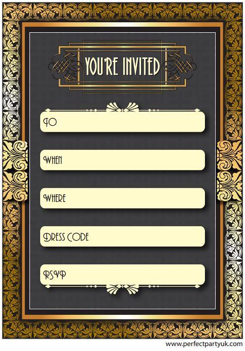 ... Art deco party invitations | by EstellePage