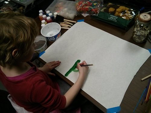Friday night art at the Appleton Makerspace.