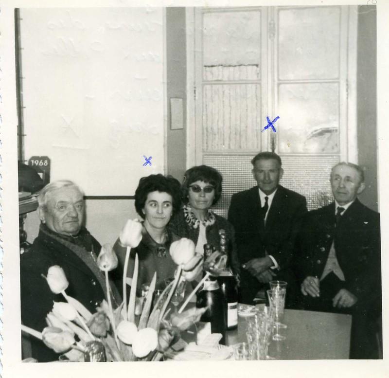 Mr Blanc, facteur- Mme Miaille, receveuse - Mr Long