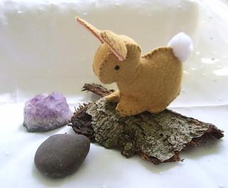 Hand-Embroidered Felt Bunny