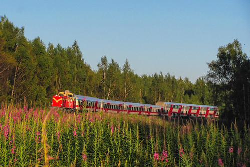 summer train finland diesel july locomotive vr intercity 2010 vaasa dv12 finnishrailways ic57