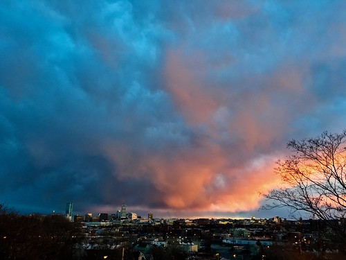 sunset sky weather clouds massachusetts newengland somerville pw prospecthillpark