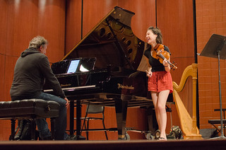 15-year-old violinist Claire Wells with Christopher O'Riley | by From the Top, Inc.