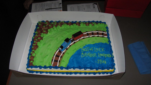 IMG_8766 Best of Luck Laurence Harms cake leaving SBAU for east coast