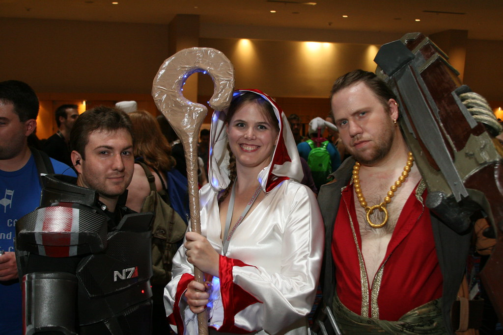 Commander Shepard Final Fantasy White Mage And Varric Te